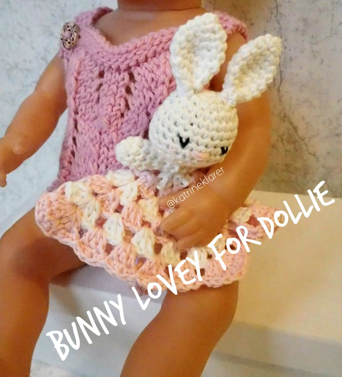 Bunny lovey for the dollie